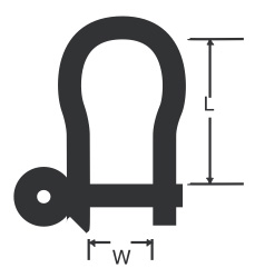RWO - Fall-schackel 36mm