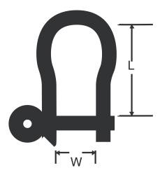 RWO - Schackel smidd vriden 44mm