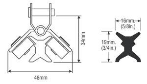 RWO - Xt1-skena 122cm