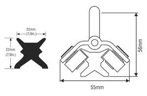 RWO - Xt2-skena 122cm