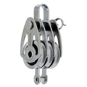 Seldén - Trippel wireblock med hunsvott 25mm