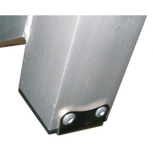 OPTIPARTS HEEL PLATE INCLUDING RIVETS